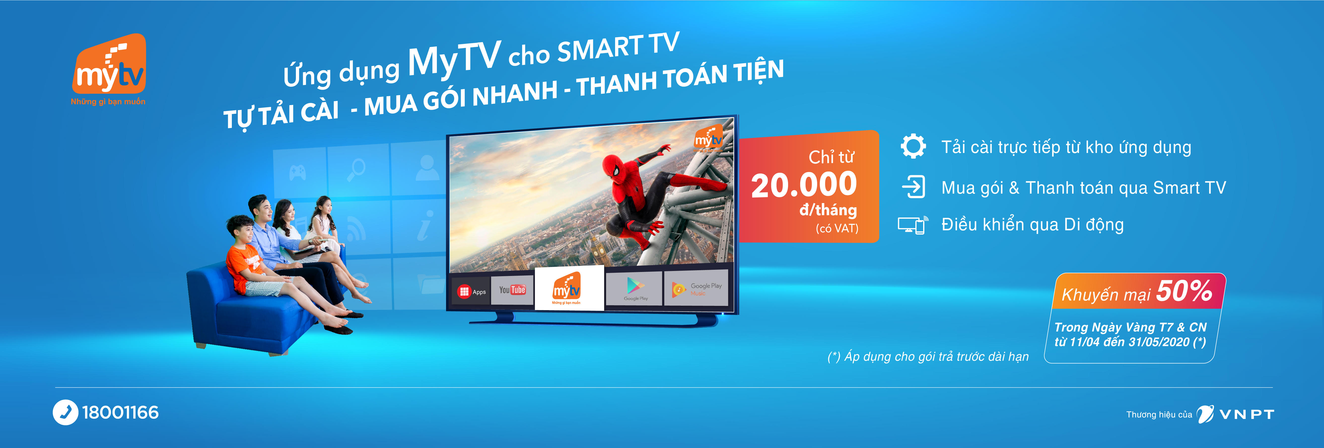 ứng dụng MYTV Cho smart TV